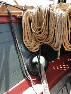 Theere are Miles of Rope on a sailing vessel