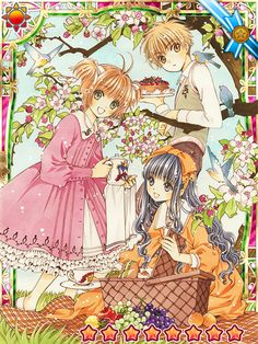Clamp ~news and releases~ Now - CCS mobile game: the new illustrations Card Captor Sakura Clamp Manga Anime, Art Anime, Anime Kunst, Anime Artwork, Cardcaptor Sakura Tomoyo, Syaoran, Card Captor Sakura, Xxxholic, Clear Card