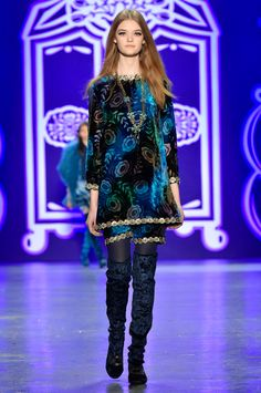 ANNA SUI Tie Dye Poppy Velvet Dress - Blue Item number KHF7G (On site now )