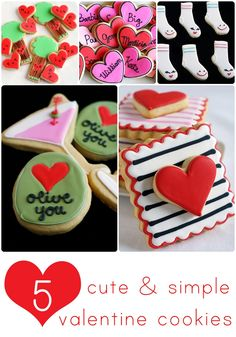 5 cute & simple decorated valentine cookie ideas ♥