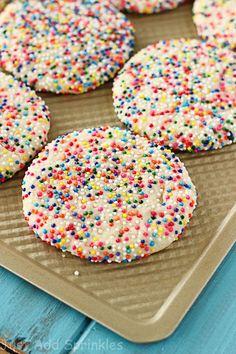 Sprinkled Sugar Cookies - Just Add Sprinkles