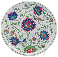 Iznik Design Ceramic Plate - Naturel Garden yurdan.com