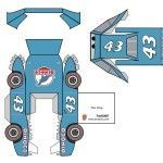 Papercraft PIXAR Cars. The King, Mack, Guido, Doc Hudson and #84.