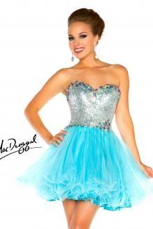 Aqua Homecoming Dress