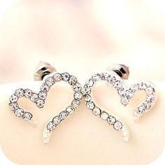 Heart Swarovski Earring Stud