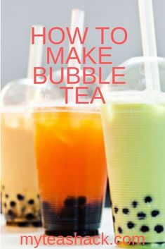Bubble Tea is a beverage that causes a furor already all over the world. Fruit Tea Recipes, Iced Tea Recipes, Fruit Drinks, Beverages, Boba Tea Recipe, Bubble Fruit, Best Tea Brands, How To Make Bubbles, Pearl Tea