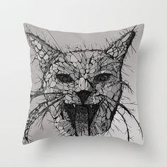 Broken Throw Pillow by Tummeow - $20.00