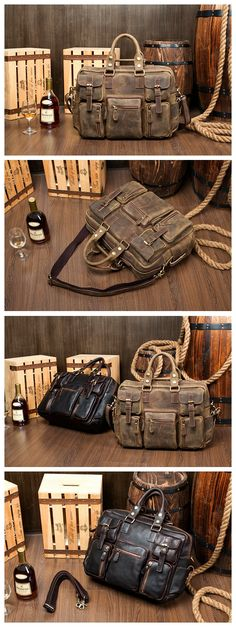 "Extra Large Genuine Leather Travel Bag Duffle Bag Briefcase Handbag 7028 Model Number: 7028 Dimensions: 16.5""L x 5.1""W x 12""H / 42cm(L) x 13cm(W) x 30.5cm(H) Weight: 3.3lb / 1.5kg Hardware: Brass Hard"