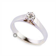 Μονόπετρο δαχτυλίδι K18 διαμάντι. Μονόπετρο δαχτυλίδι με Brilliant (μπριγιάν)  από λευκόχρυσο 18 καρατίων ... 6eb8c2df5c4