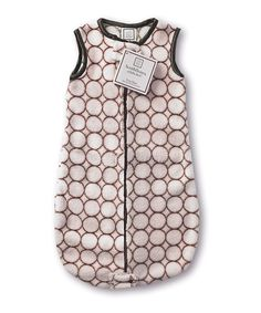 Take a look at this SwaddleDesigns Pastel Pink & Brown Modern Circle zzZipMe Sleeping Sack on zulily today!