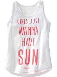Shop fun graphic tees for your girl at Old Navy. From various styles and designs, Old Navy is the only place you need to upgrade her wardrobe. Beach T Shirts, Summer Shirts, Cute Shirts, Beach Tanks, Travel Shirts, Vacation Shirts, Girls Vacation, Old Navy Girls, Vinyl Shirts