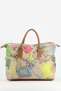 Ecote Neon Map Weekender Bag......WANT!!!!!