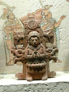 Maya Culture. Sun God, terracotta.  SanFrancisco de Young Museum.