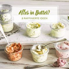 Was sich aus rahmiger, weicher Butter doch so alles machen lässt! Zum Beispiel feine Thymian-Zitronen-Butter, süße Zimt-Honig-Butter und und und.