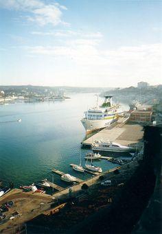 Port Mahon, Menorca Island. I worked as 2nd Officer on that ship, Ciudad de Sevilla. Germán Erostarbe