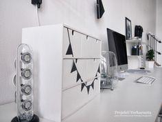 PROJEKTI VERKARANTA: DIY with black tape #IKEA Moppe white mini dresser