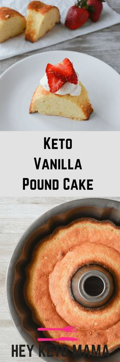This Keto Vanilla Pound Cake is an incredibly simple dessert with excellent macros and just the right amount of sweetness. It also stores very well, that is...if there are any leftovers! | heyketomama.com via @heyketomama