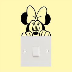 Minnie mouse -Light Switch sticker- cute funny - wall art vinyl decal sticker. Be Creative! Position your individual sticker wherever you like. Decals is covered with transfer tape for easy application. | eBay!
