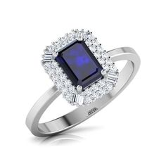 Set in 18 Kt White Gold (3.45 gms) with diamonds
