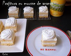 Arome si culori : Prajitura cu mousse de ananas Mousse, Cheesecake, Deserts, Sweets, Candy, Orice, Food, Pineapple, Gummi Candy