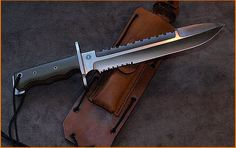 Custom M1A Spear Point fixed blade by Relentless Knives