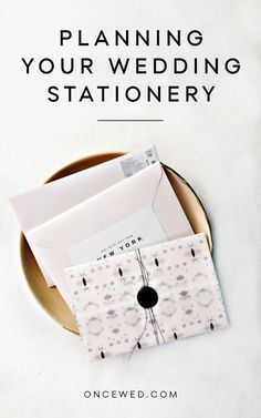 Planning Your Wedding Stationery - Practical and Inspirational tips from Gather & Co. Via @oncewed