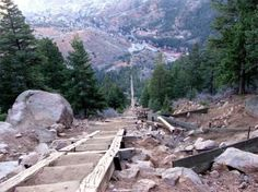 My favorite workout: Pike's Peak - the incline (this shot is about half way up)