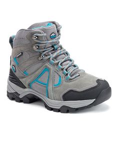 Take a look at this Gray & Light Blue Prophet Suede Hiking Boot on zulily today!