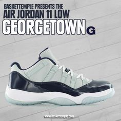 dd8e42b6682 air Jordan 11 low georgetown 528895-007 11 April on baskettemple.com
