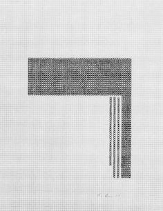 Eva Hesse, Untitled. 1967. Black ink on graph paper. 280 x 290mm