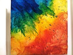 Prism Melted Crayon Art by AndreaAudrey on Etsy, $25.00