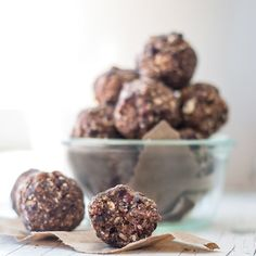 Dark Chocolate Cherry Hazelnut Energy Balls