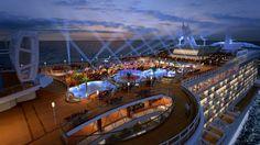 Royal Princess Top Deck at Night | New Cruise Ships