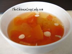 The Chinese Soup Lady & Chinese Soup Recipes » Blog Archive » Papaya and Snow Fungus Chinese Dessert
