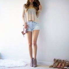 Kaylie is a girl who came to live in New York and left … # Werewolves # amreading # books # wattpad - Teen Fashion Outfits, Hot Outfits, Girly Outfits, Korean Outfits, Classy Outfits, Cute Fashion, Look Fashion, Outfits For Teens, Spring Outfits