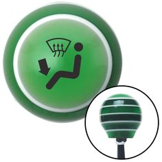 Black Automotive Air Defrost and Feet Green Stripe Shift Knob with M16 x 15 Insert - Give your interior the ultimate look. American Shifter's Elite(TM) series shift knobs are made from the highest quality components resulting in a superior feel on every shift. Each shift knob is designed and customized in the USA by skilled shift knob artisans who have a trained eye on every detail. American Shifters shift knobs offers an exclusive aluminum threaded insert designed to be screwed onto your…