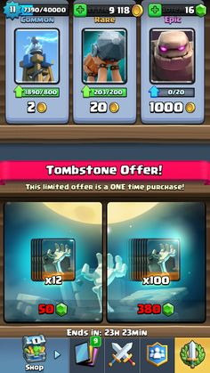 Tombstone offer!