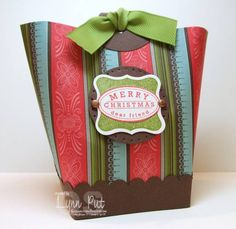Christmas Box in a Bag by justbehappy - Cards and Paper Crafts at Splitcoaststampers