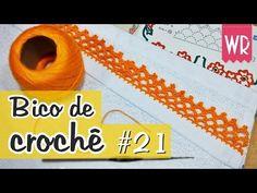 Bico de crochê fácil e completo para iniciante #21 - YouTube                                                                                                                                                     Mais Crochet Borders, Crochet Stitches, Blanket Stitch, Diy And Crafts, Applique, Embroidery, Blog, Youtube, Crochet Edgings
