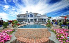 big house with a pool