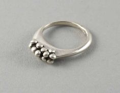 FM042 Bubbles ring - stg silver $170