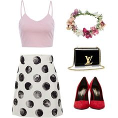 Untitled #8 by n-abagnale on Polyvore featuring polyvore fashion style AX Paris Dolce&Gabbana Yves Saint Laurent Topshop