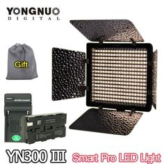 86.14$  Buy here - http://ali03r.worldwells.pw/go.php?t=32293216711 - YONGNUO YN300 III YN-300 III 3200K-5500K LED Video Light Panel+ NP-F550 battery & Charger for Sony Canon Nikon Camera Camcorder 86.14$