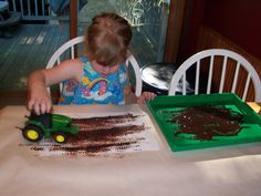 Tractor painting - great for a follow up activity after visiting a real farm.