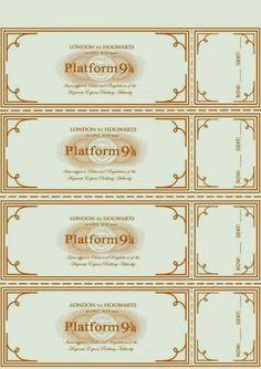 Platform 9 3/4 tickets