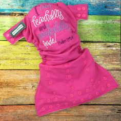 MADE TO ORDER - You choose colors - Little Beasties one size cloth pocket diaper with adjustable elastic & leg gussets; Christian embroidery - pinned by pin4etsy.com