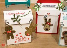 Weihnachtspost ist da! - eine Briefkasten Verpackung Werke die bei meinem letzten Workshop enstanden sind. Stampin'Up