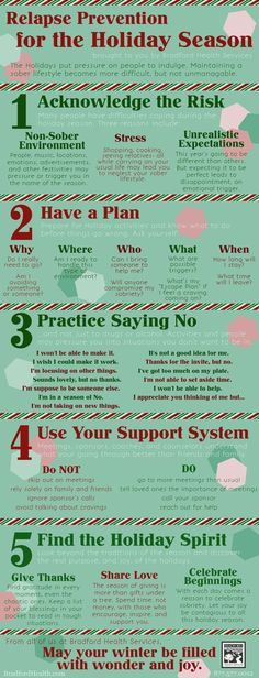 Holiday Relapse Prevention - Staying Sober www.huroncohealth.com