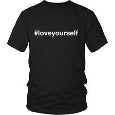 #loveyourself Hashtag Unisex T-shirt (White Font)