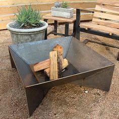 Fin Steel Fire Pit
